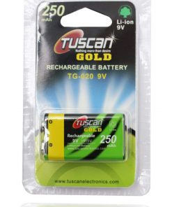 9 volt 250 mah Rechargeable Lithium Ion Battery