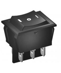 Rocker Switch 16A DPDT On Off Mom (CE289)