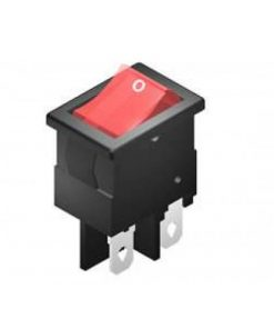 Rocker Switch 4A DPST On Off Illuminated Red (CE298)