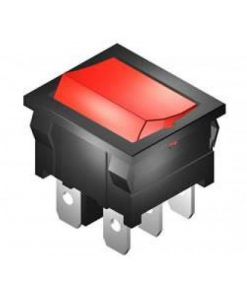 Rocker Switch Small 4A DPDT On On (CE303)
