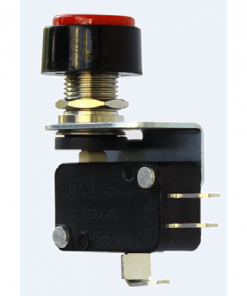 VMS-L-TPB-R-D4 (Thumb Push Button Microswitch with Solderable Terminal - 400 to 450 gram Operating force)