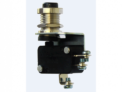 VMS-S-FPB-R-D3 (Finger Push Button Microswitch with Screw Terminal - 300 to 350 gram Operating force)