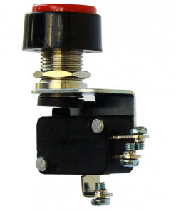 VMS-S-TPB-R-D4 (Thumb Push Button Microswitch with Screw Terminal - 400 to 450 gram Operating force)