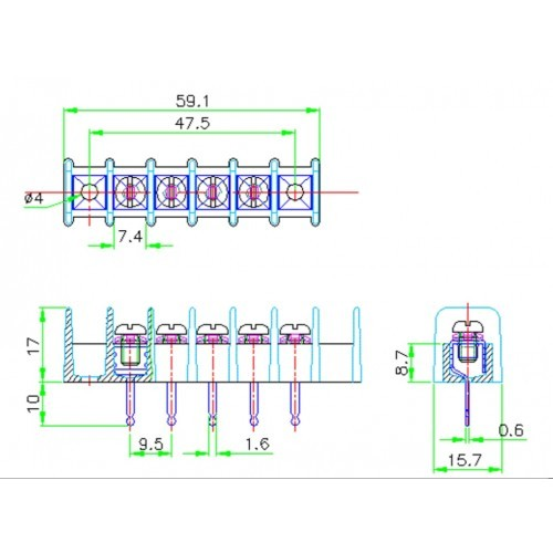 pcb-connector-10A-5way-CE184